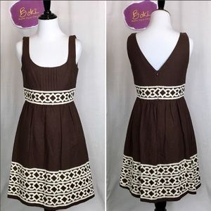 Shoshanna Embroidered Fit n Flare Dress Sz 6
